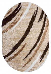 Shaggy 8061 Beige Oval