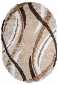 Shaggy 8952 Beige Oval